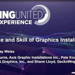 Image for the Tweet beginning: Three graphics installers share how