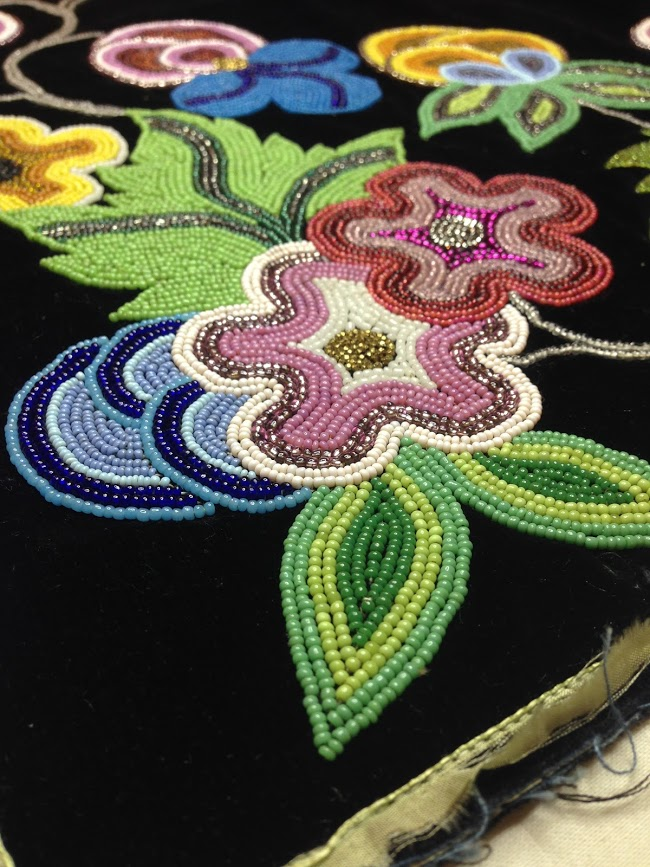 Miss just spending worktime taking pictures of beadwork. #pretty #anishinaabe #ojibwe #beads