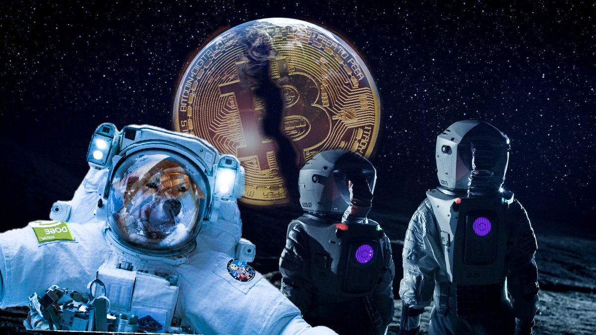 If #dogecoin boomed like #Bitcoin #BTC then something is going to break!! They sleeping on! #doge 😴😴😴  #Dode to Mars 🌎 🚀
