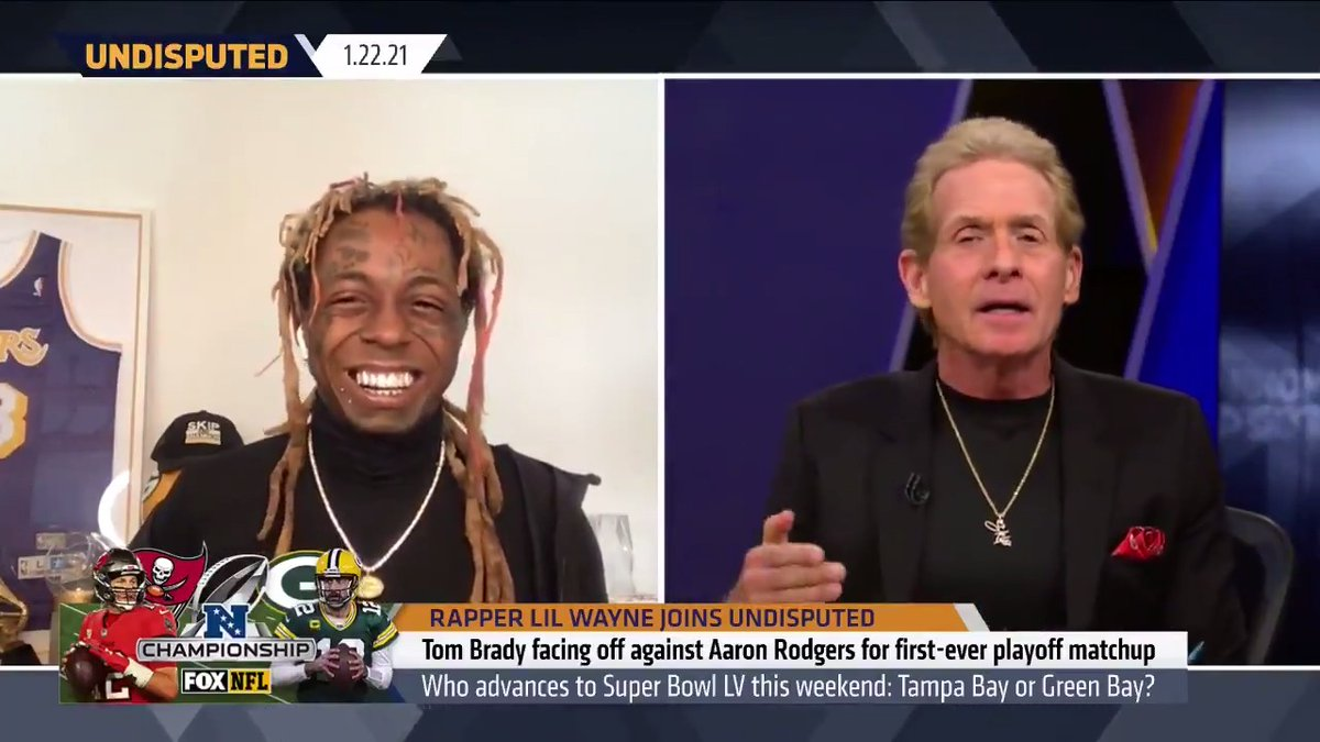 .@RealSkipBayless: You had one of the greatest hype songs ever written. It lived its life for 2 weeks & that's it.  @LilTunechi: I can let you know now, that you're about to be getting tired of that song because it's about to be playing the whole year after we win the Super Bowl.
