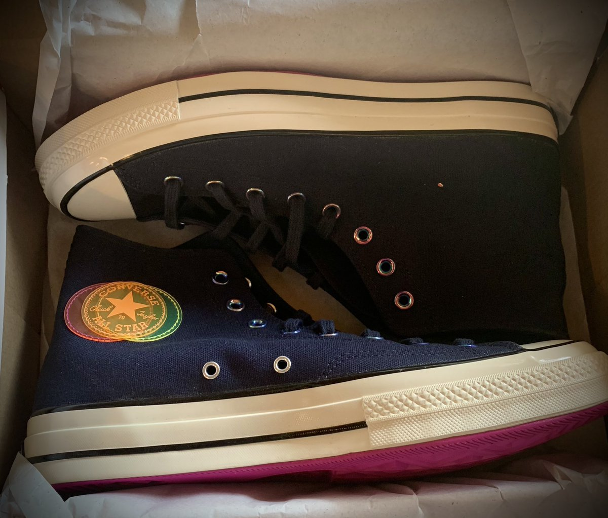 My new shoes arrived.