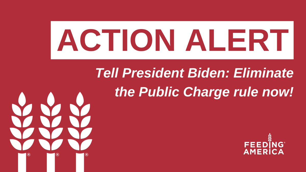 🍽️ As more people face hunger, @POTUS must act to support every. single. person. w/o enough to eat.     📣 Tell Pres. Biden: Get started by eliminating the Public Charge rule – a harmful policy that discourages people facing hunger from accessing SNAP.