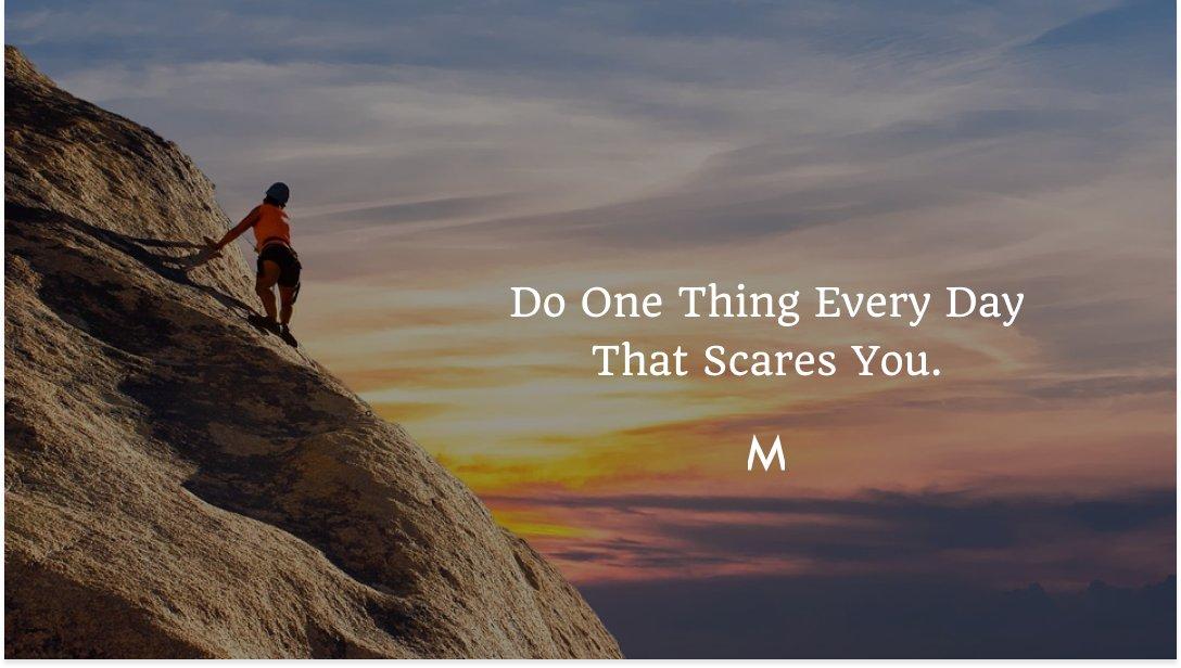 Do One Thing Every Day That Scares You.  #marketiqs #fridaymotivation #fridayvibes #friday #fridaymood #fridayfeeling #motivation #fridaythoughts #fitness #fridaymorning #love #motivationalquotes #instagood #friyay #fitnessmotivation #fridayfeels