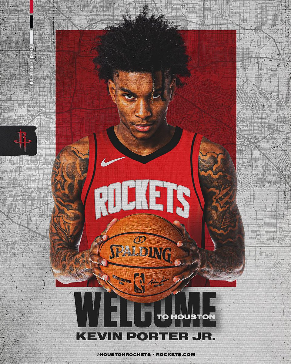 OFFICIAL: The #Rockets today announced they have acquired guard Kevin Porter Jr. from Cleveland in exchange for a protected second round pick.  📰: