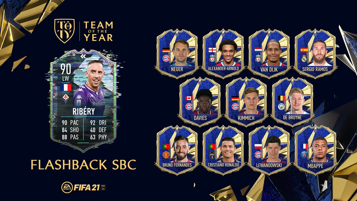 A living legend playing at the peak of his powers.  A new #TOTY Flashback Squad Building Challenge is live in #FUT.