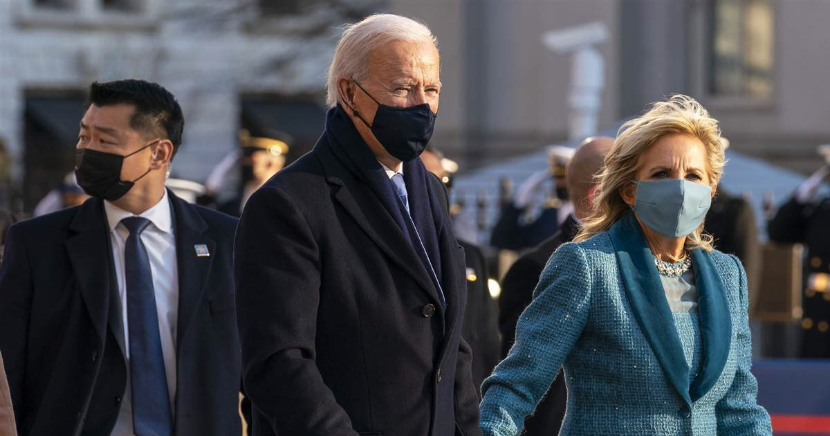 """I'm still seeing quite a few posts asking why Joe Biden has """"a Chinese bodyguard"""".  He doesn't. That is David Cho, he is Korean-American, one of the most respected and experienced members of the Secret Service who has worked for administrations both Republican and Democrat."""