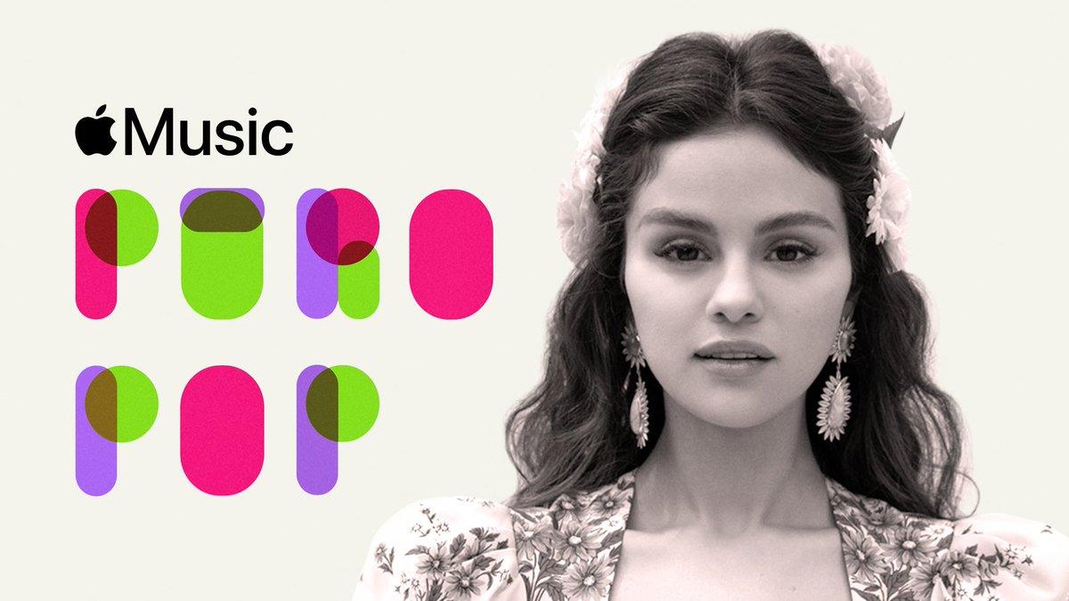 """Selena Gomez personalizou a playlist """"Puro Pop"""" da Apple Music com clássicos e hits latinos atuais que ela gosta. A cantora adicionou """"Siempre He Estado Aquí"""" entre a lista."""