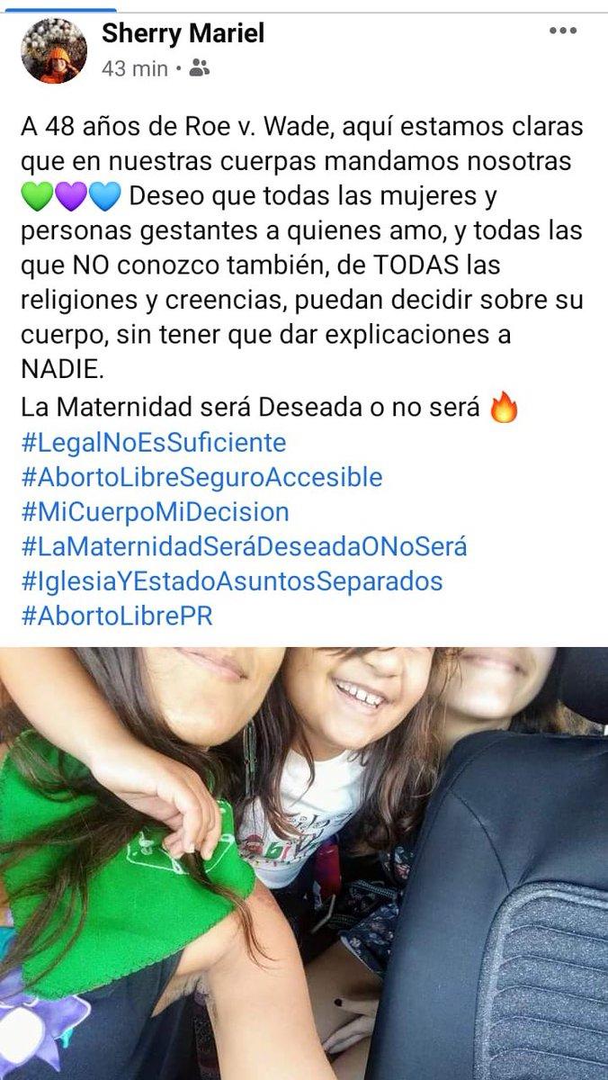 #RoevWade #PuertoRico #AbortoLibreSeguroAccesible💚 #pañuelazoroevwade💜 #legalnoessuficiente #iglesiayestadoasuntosseparados 🧡 #SherryMariel