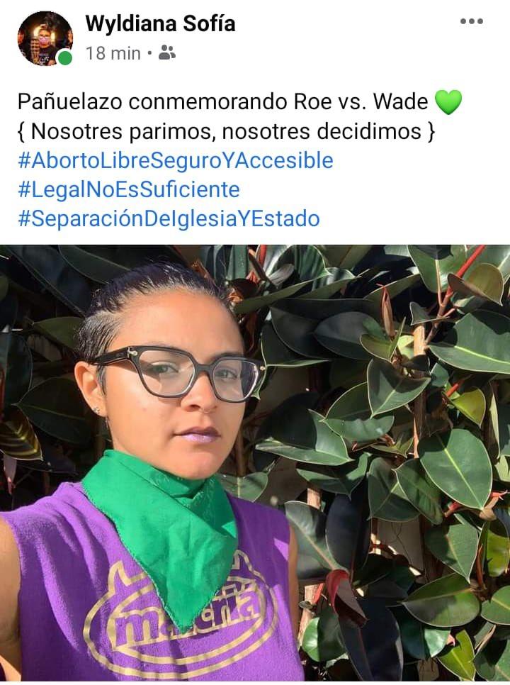 #RoevWade #PuertoRico #AbortoLibreSeguroAccesible💚 #pañuelazoroevwade💜 #legalnoessuficiente #iglesiayestadoasuntosseparados 🧡 #WyldianaSofia 💚