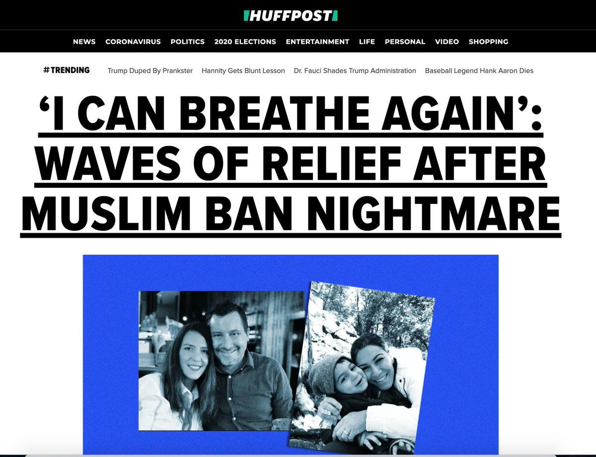 Replying to @Rowaida_Abdel: Now leading @HuffPost: