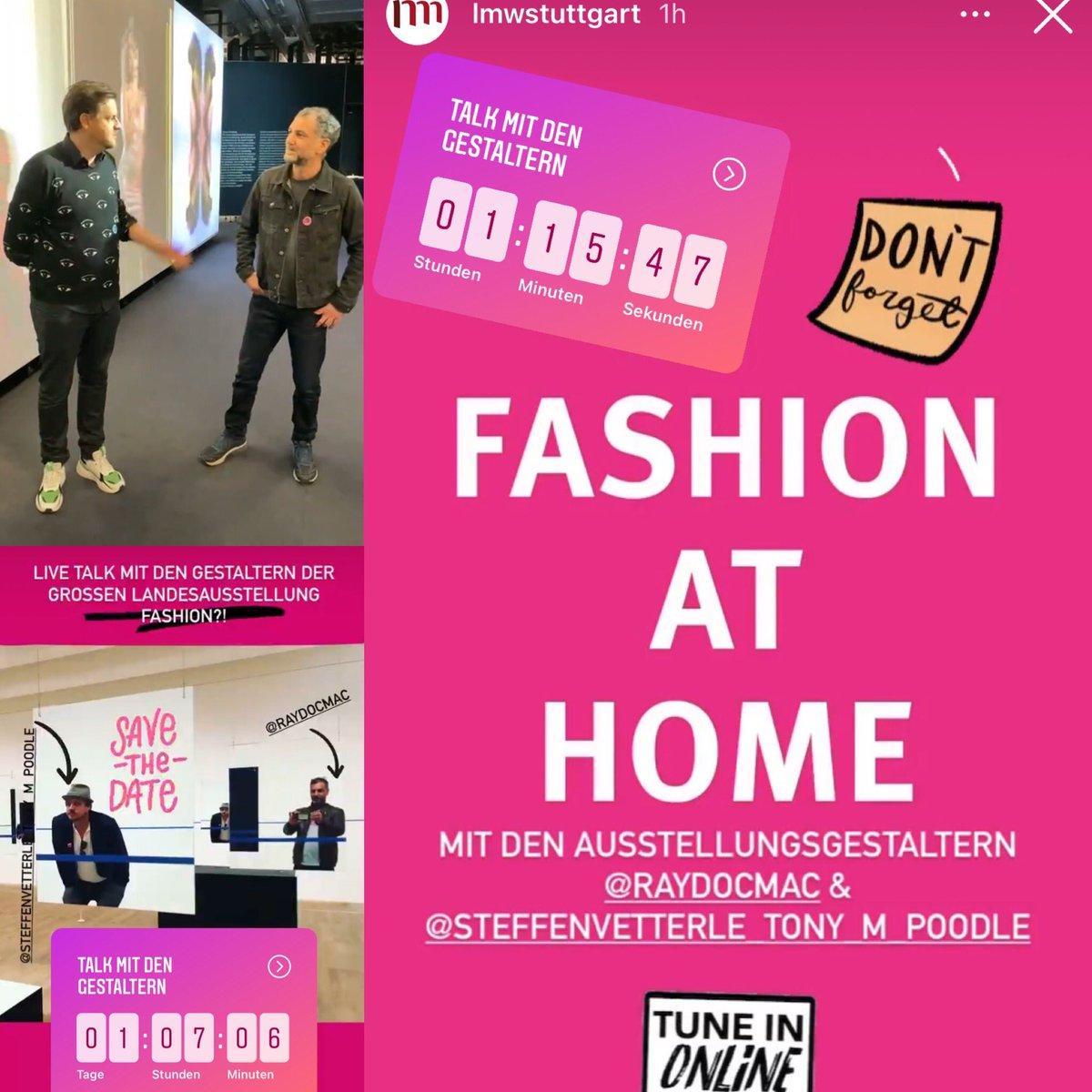 """#Fashion at home-dank @LMWStuttgart! Die #Ausstellung """"Fashion?! Was Mode zu #Mode macht""""der KollegInnen aus Stuttgart hatte erst knapp zehn Öffnungstage.Hier berichteten nun die Ausstellungsgestalter vom Prozess der Entstehung!Dahinter stecken viel Zeit, Ideen (&Kosten)! #Museum"""