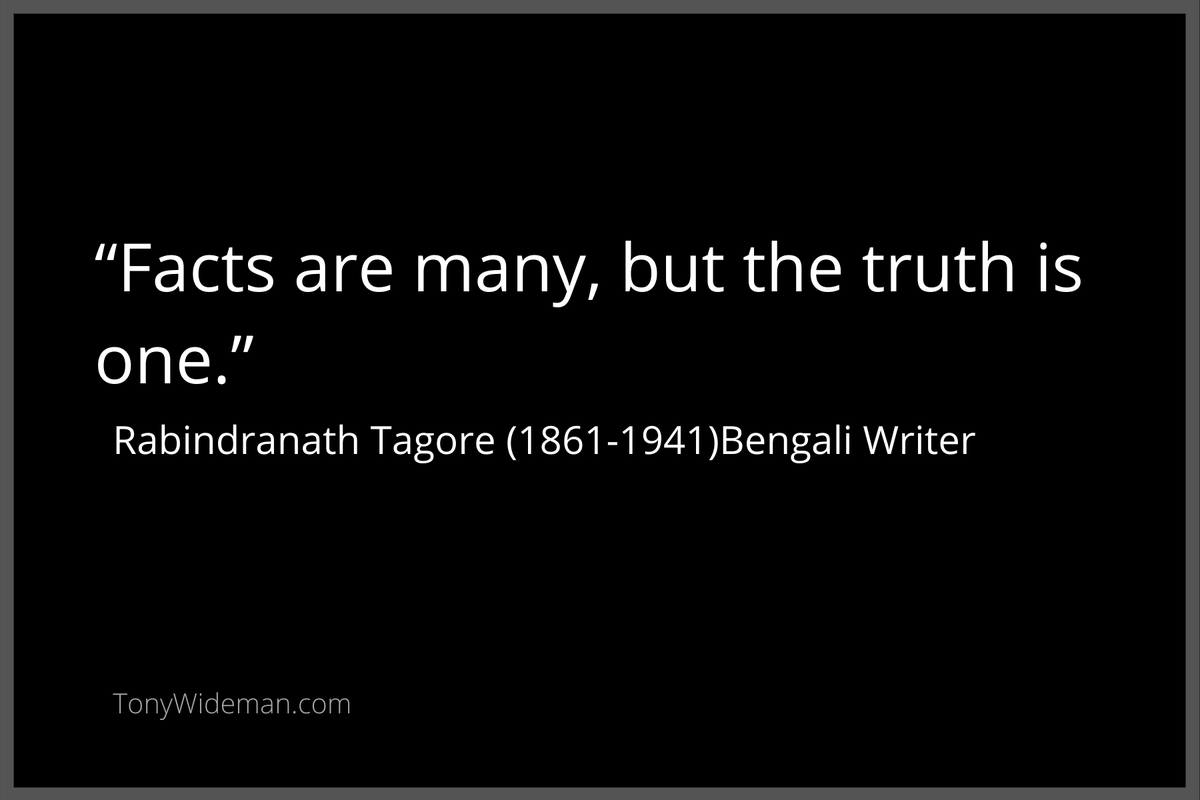 """""""Facts are many, but the truth is one.""""  #Truth #TruthMatters #TruthIsLouder #TruthOrDare #truthwillprevail"""