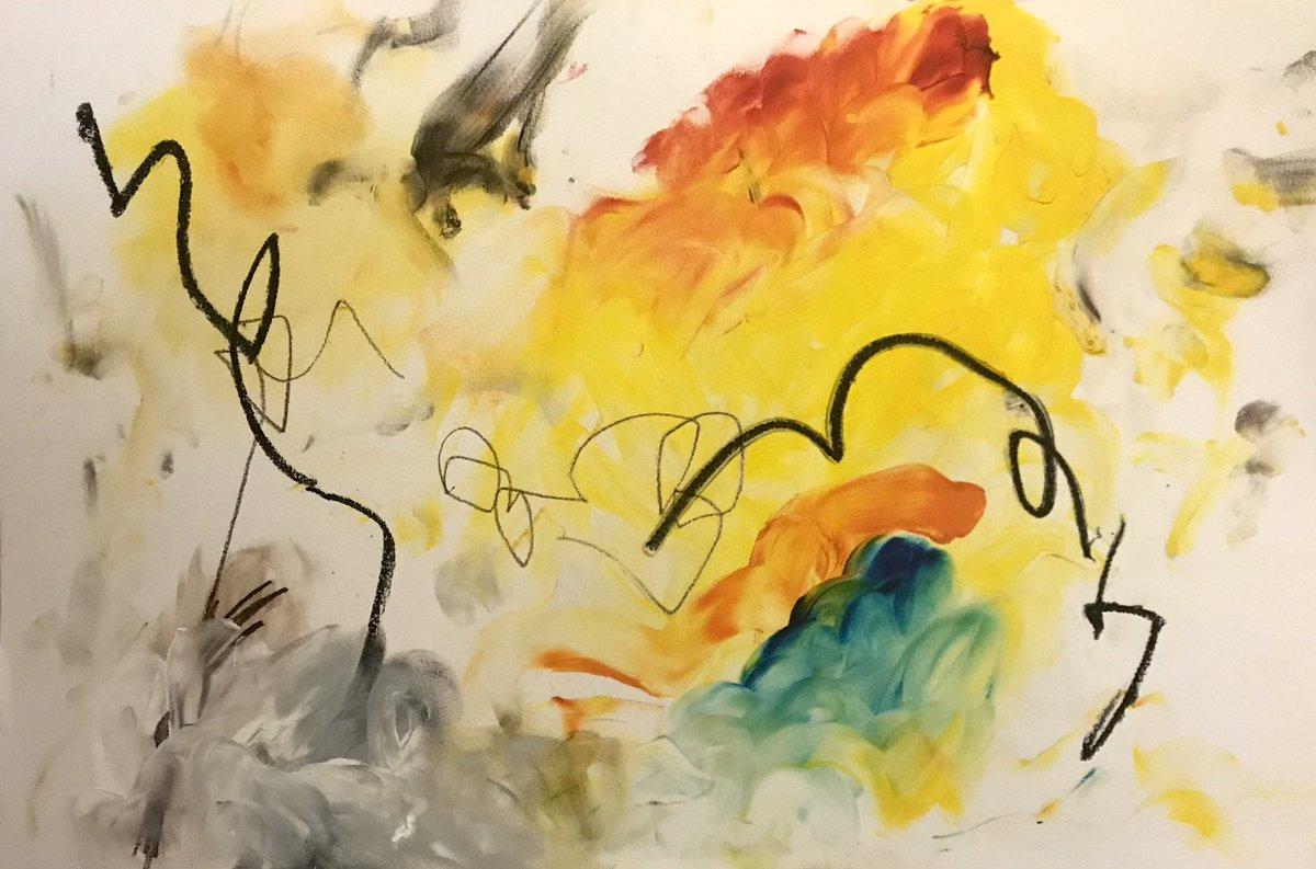 "Mixed media on mixed media paper. 13x18"". 2021.   #art #abstractart #yeg #yeggers #fridaymorning #feelingfriday #modernart"