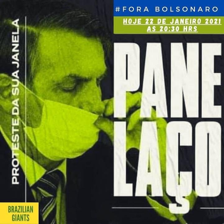 Não podemos nos omitir. Chega de irresponsabilidade, Panelaço, hoje, 20:30. Sem barulho, muitos serão sufocados#ImpeachmentBolsonaroUrgente#brasilsufocado#impeachmentbolsonaro#impecheamentjá#impeachment