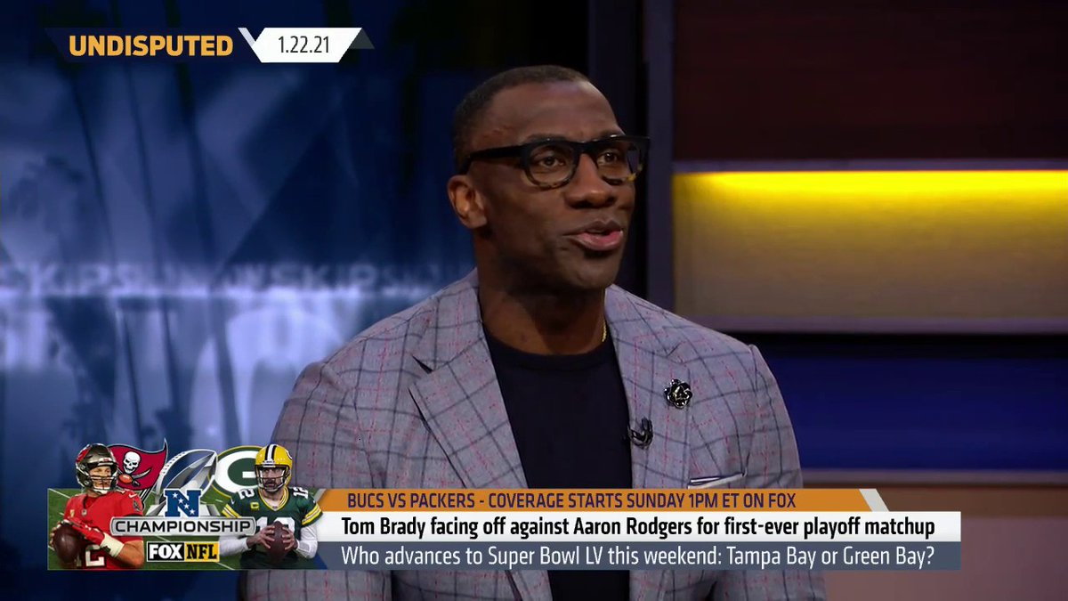 """I'm going with Rodgers, I expect him to be spectacular. Both the Bucs & Packers have gotten better, but the Packers have gotten exponentially better. I got me a nice score of 33-25, Packers.""  — @ShannonSharpe"