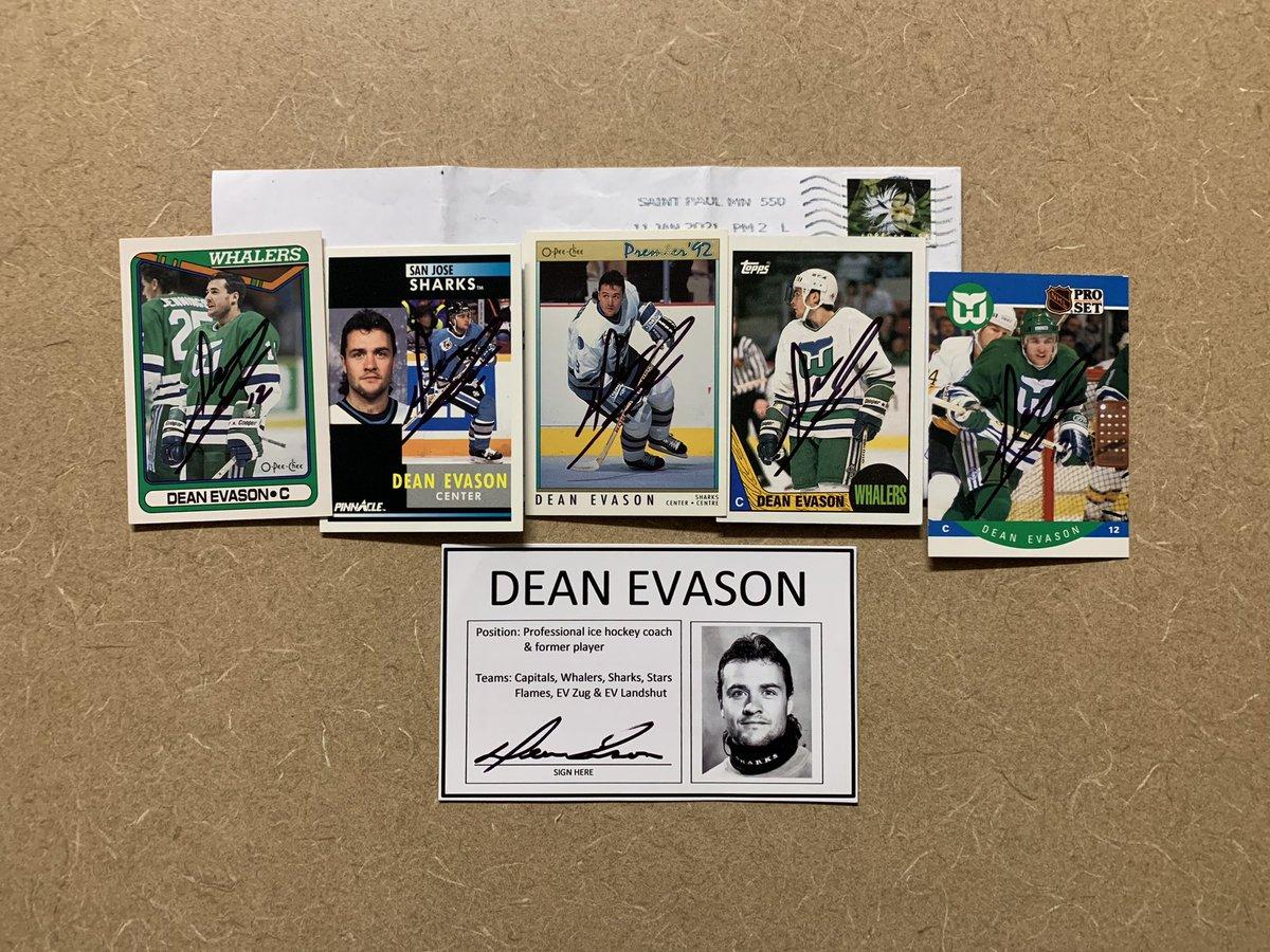#DeanEvason #hockey #puck @NHL  #TTM #Memorabilia #Autograph #Autographs #AutographCollector #CupChampion #AutographCollection #GreatGuy #ThankYou #TTMSuccess #TTMAutographs #MailDay @Capitals @WhalersNHL @SanJoseSharks @DallasStars @NHLFlames