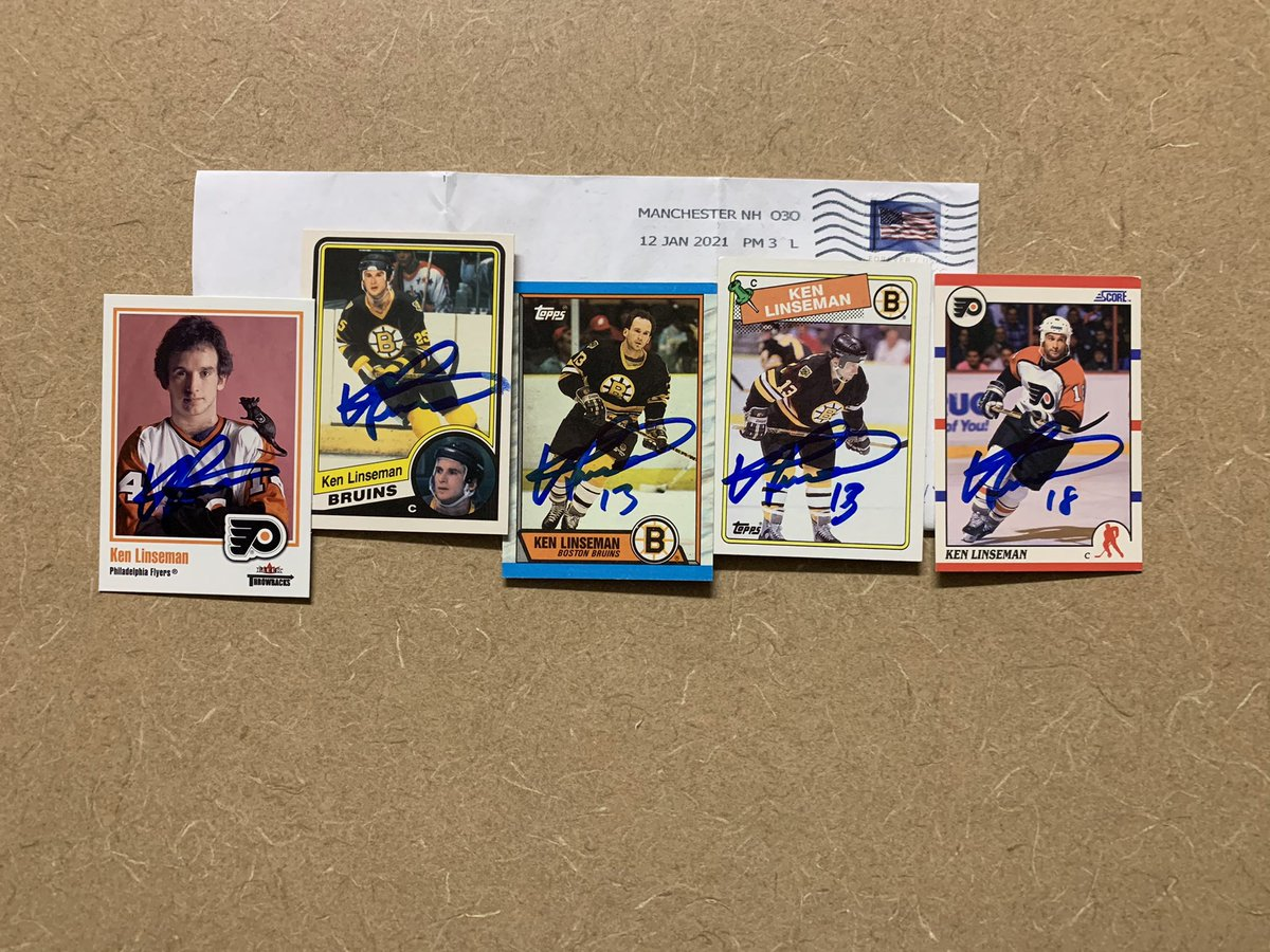 #KenLinseman #hockey #puck @NHL  #TTM #Memorabilia #Autograph #Autographs #AutographCollector #CupChampion #AutographCollection #GreatGuy #ThankYou #TTMSuccess #TTMAutographs #MailDay @NHLFlyers @NHLBruins