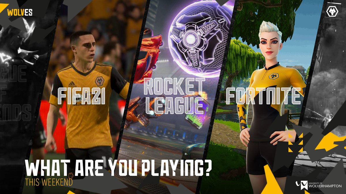 What are you going to be playing this weekend? Did the FIFA and Rocket League events get you excited for those games? 👀 Or are you going to be representing us in-game with the Wolves Fortnite skins dropping the 23rd? 🐺  #Fortnite #FIFA21 #Rocketleague