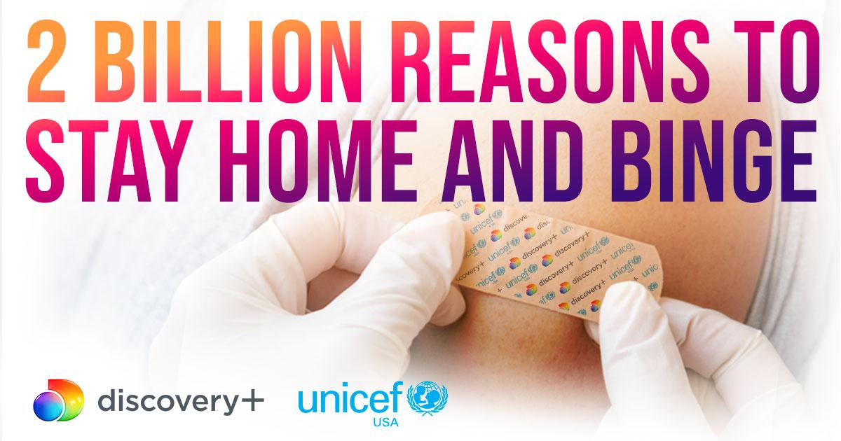 Help save lives TODAY. Purchase a subscription to @discoveryplus between now and April 19th and we'll donate $1 to @UNICEFUSA to help them deliver 2 Billion doses of COVID-19 vaccines to global frontline workers and vulnerable populations in 2021