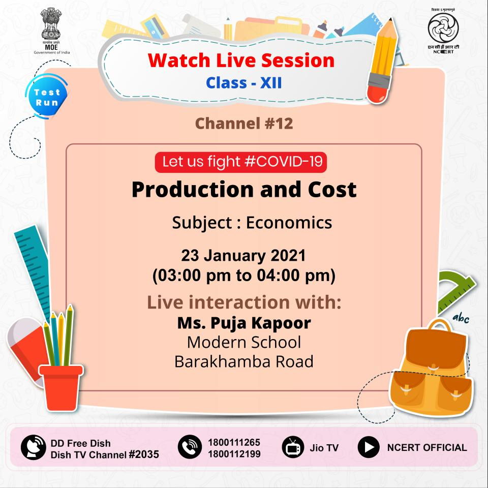 #StayHome, #LearnFromHome. Watch live interaction with experts by Connecting to #PMeVidya #DTHTV channels (I to XII) trial run. Also available on #NCERT official @YouTube channel,  @TataSky #756, #Airtel #440, DD free dish, DishTV #950, Videocon #477, SUNDIRECT#793, @jiotv