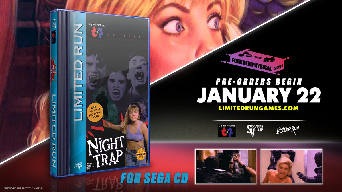 🎵 Girls if you are driving a ride... You'll be caught in the night — NIGHT TRAP! 🎵  Pre-orders for Night Trap on Sega CD & Sega CD 32X are NOW OPEN on .