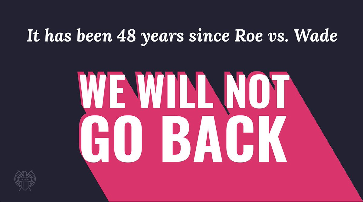 48 years of #RoevWade, and we're not going back.  Reproductive justice for all.