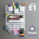 Image for the Tweet beginning: Poundland's best selling pegboard and