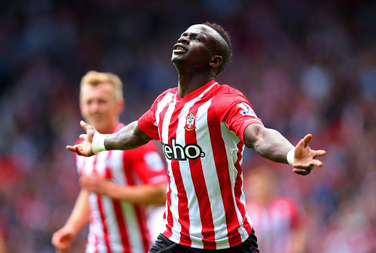 👤 Sadio Mane 👕 Southampton 📅 16 May 2015 🆚 Aston Villa ⚽️ 13' ⚽️ 14' ⚽️ 16'