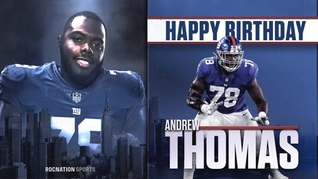 Fresh off his rookie season with the @Giants. Happy 22nd Birthday to Georgia's own, @allforgod_55! 🥳🔵🔴