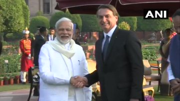 Namaskar, Prime Minister Narendra Modi. Brazil feels honoured to have a great partner to overcome a global obstacle by joining efforts. Thank you for assisting us with the vaccines exports from India to Brazil. Dhanyavaad: President of Brazil Jair M Bolsonaro (File photo)