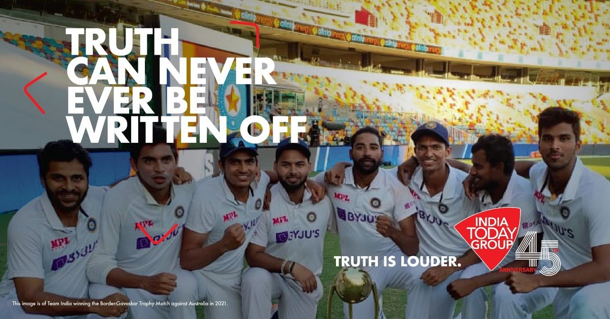 Truth is there to stay. Truth can never be written-off .. #IndiaTodayGroupAt45 #TruthIsLouder