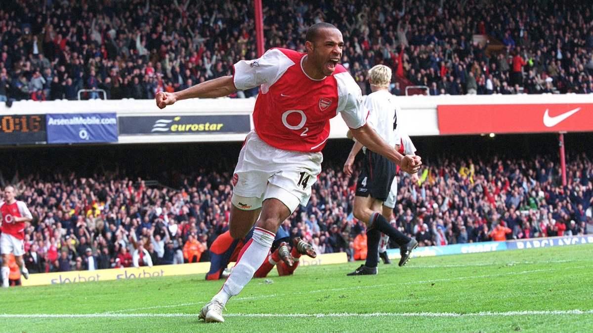 👤 Thierry Henry 👕 Arsenal 📅 9 April 2004 🆚 Liverpool ⚽️ 31' ⚽️ 50' ⚽️ 78'