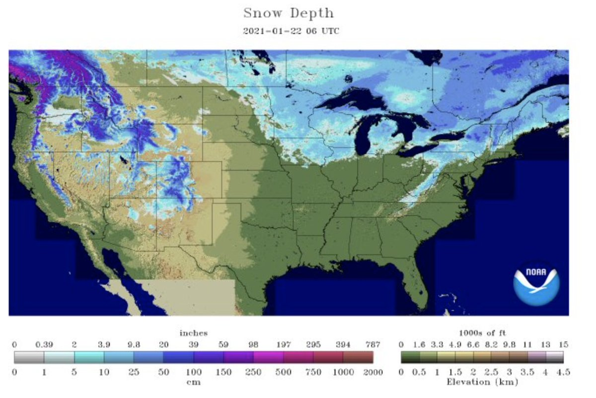 #Snow Depth, 1.22 (winter #wheat).