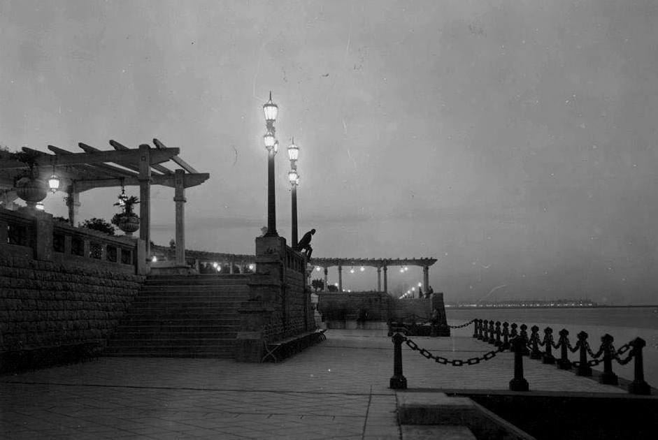 La Costanera Sur en un anochecer de 1926.