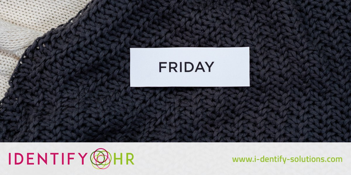 As it's Friday and most of us are currently working from home, how do you ensure you create a clear divide between your working week and your weekend?   #FridayThoughts #WorkingFromHome #IdentifyTalent