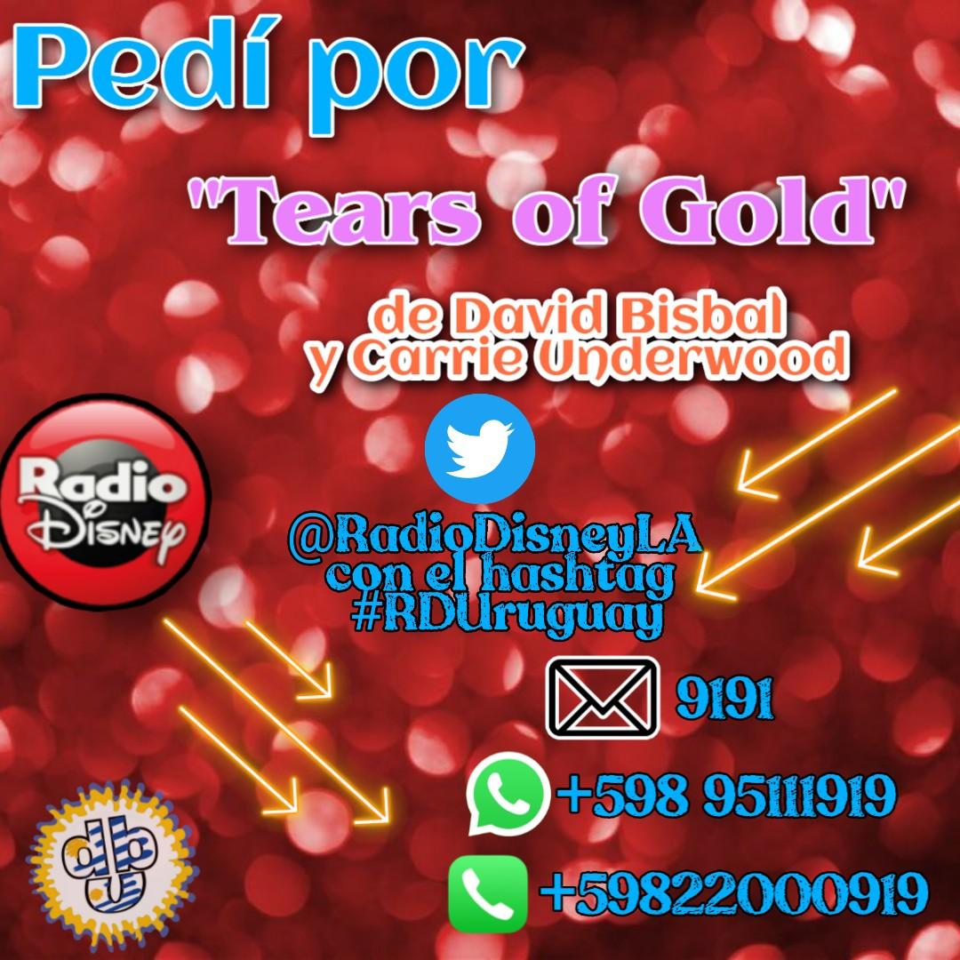 #RDUruguay  @RadioDisneyLA Votamos por #TearsOfGold de @davidbisbal y @carrieunderwood para el  ranking de @pol_oaks @UMUruguay #FCDavidBisbalUruguay  @FCDavidBisbalUY