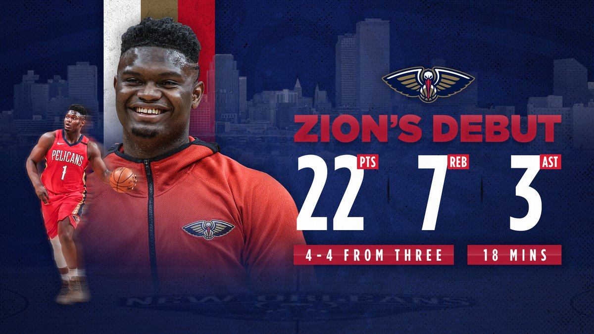 A year ago today, Zion made his NBA debut 💪 https://t.co/DQoUkLwA0r