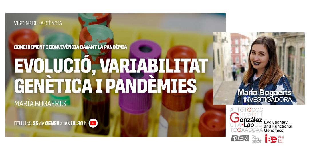 test Twitter Media - Dilluns 25/01 18.30h #VisionsDeLaCiència  @BibliotequesBCN Les forces de l'#evolució, rutes migratòries, #genòmica de poblacions i la importància de la variabilitat #genètica  Amb @maria_bogaerts de @GonzalezLab_BCN @IBE_Barcelona   👉https://t.co/KAIdT0qngA  #CiènciaiConvivencia https://t.co/JoJlOkee78
