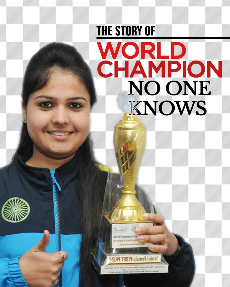 Inspired by @vishy64theking, this chess player went on to become a four-time gold medalist at the nationals and a World Champion!♟️  But why do we not know about @MalikaHanda?  #Chess