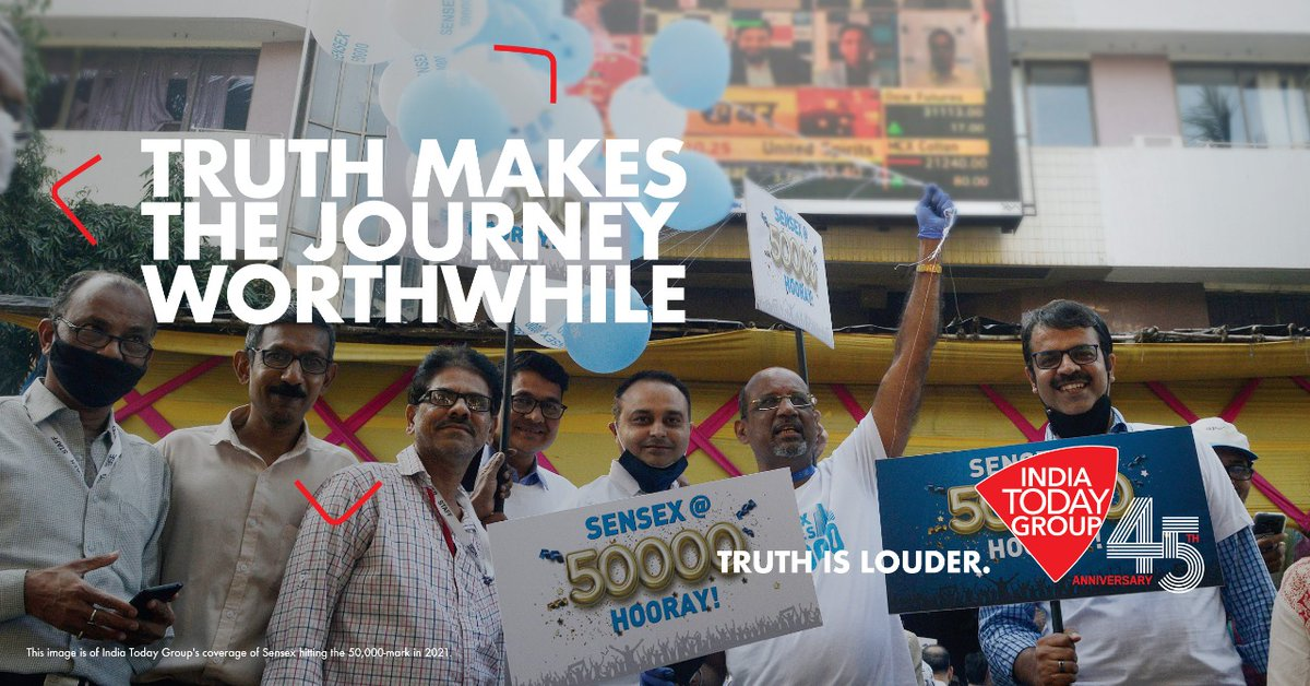 Truth is dignified and unbiased... It makes the journey worthwhile.. #IndiaTodayGroupAt45 | #TruthIsLouder