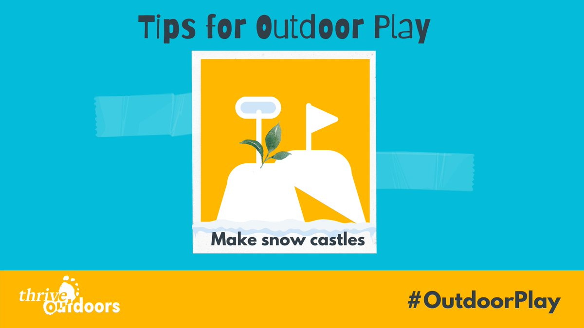 Do you wanna build a snow...castle?!❄️  We thought seeing as its snowing again this weekend our #Fridaytip should feature some #snow again!   This week's tip is on building #snow castles -just like sandcastles but with you guessed it SNOW!   DOWNLOAD here: