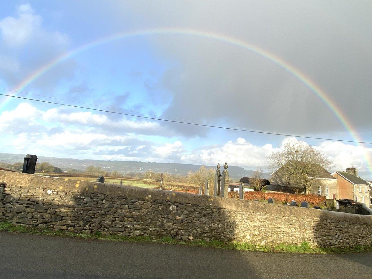 A rainbow on our morning walk - a start to a good Friday #rainbow #fridaymorning
