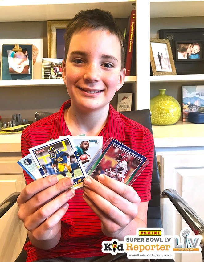 With just one entry, 12-year-old Virginia collector Caleb Byrne wins 2020 @PaniniAmerica @SuperBowl Kid Reporter grand prize.  #WhoDoYouCollect | #NFL  #SuperBowl