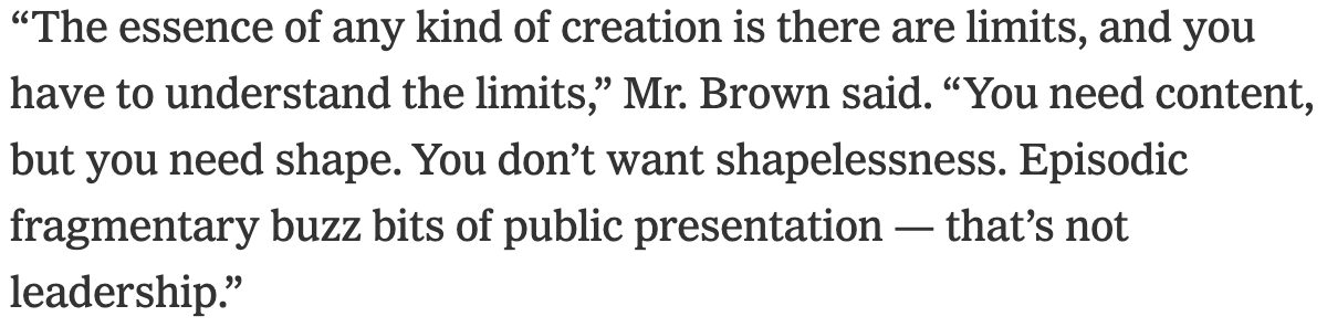 Jerry Brown becoming a sort of gnostic political sage in retirement is both predictable and delightful (via @ShaneGoldmacher)