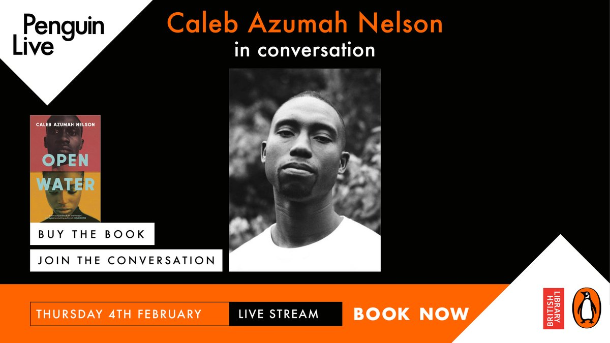 Looking forward to Open Water? You're going to want to get yourself a ticket to this.   Join @CalebANelson as he speaks about his writing, how London shaped his work whilst touching on the book's themes of art, love, police violence and black masculinity.