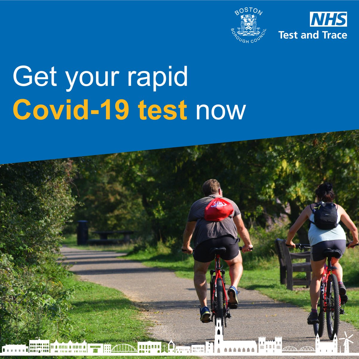 The community 'rapid' testing sites at Peter Paine and Tollfield Campus both open at 8am every morning. You can attend these site for testing if you are not showing Covid-19 symptoms.  No appointments are needed, just pop along and take a test to #ProtectBoston #LetsGetTested