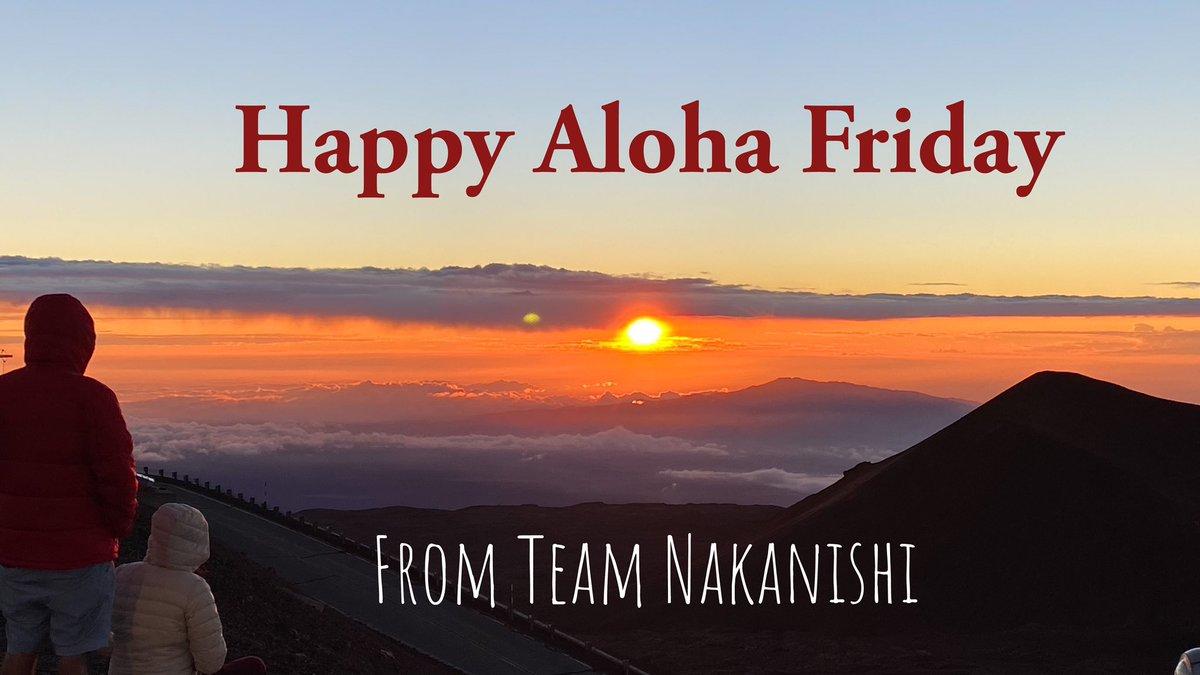 Remember to take time everyday to enjoy the beauty of Hawai`i 🌺   Have a great weekend everyone!  📸: @ashtsuji  #teamnakanishi #hawaiilife #alohafriday #happyalohafriday #sunset #nature #maunakea #weekend #fridayvibes