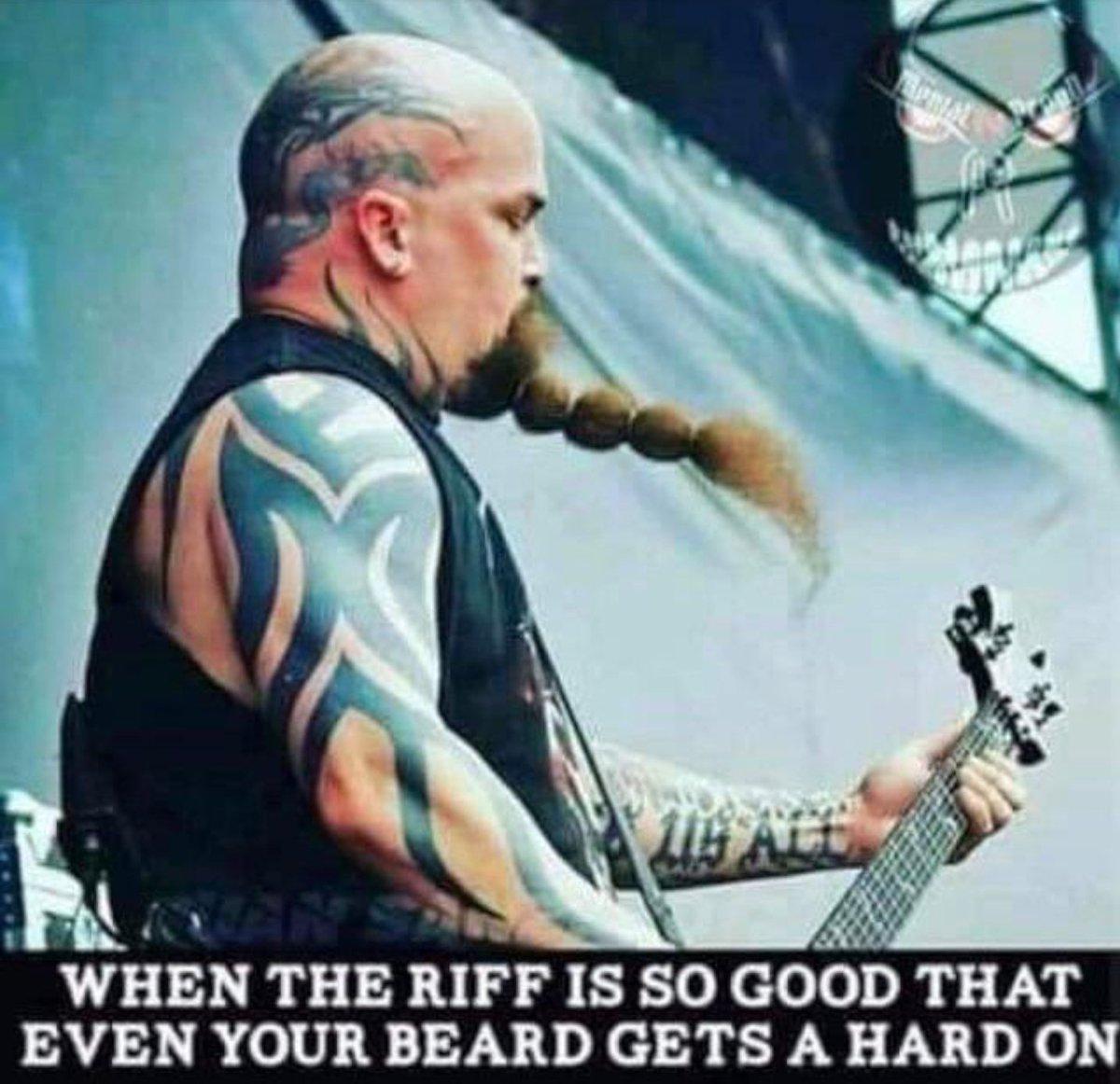 Metal: the full body Viagra @Slayer #fridaymorning #FridayVibes #slayer #MetalMusic #metal @HATEMACHINEDave