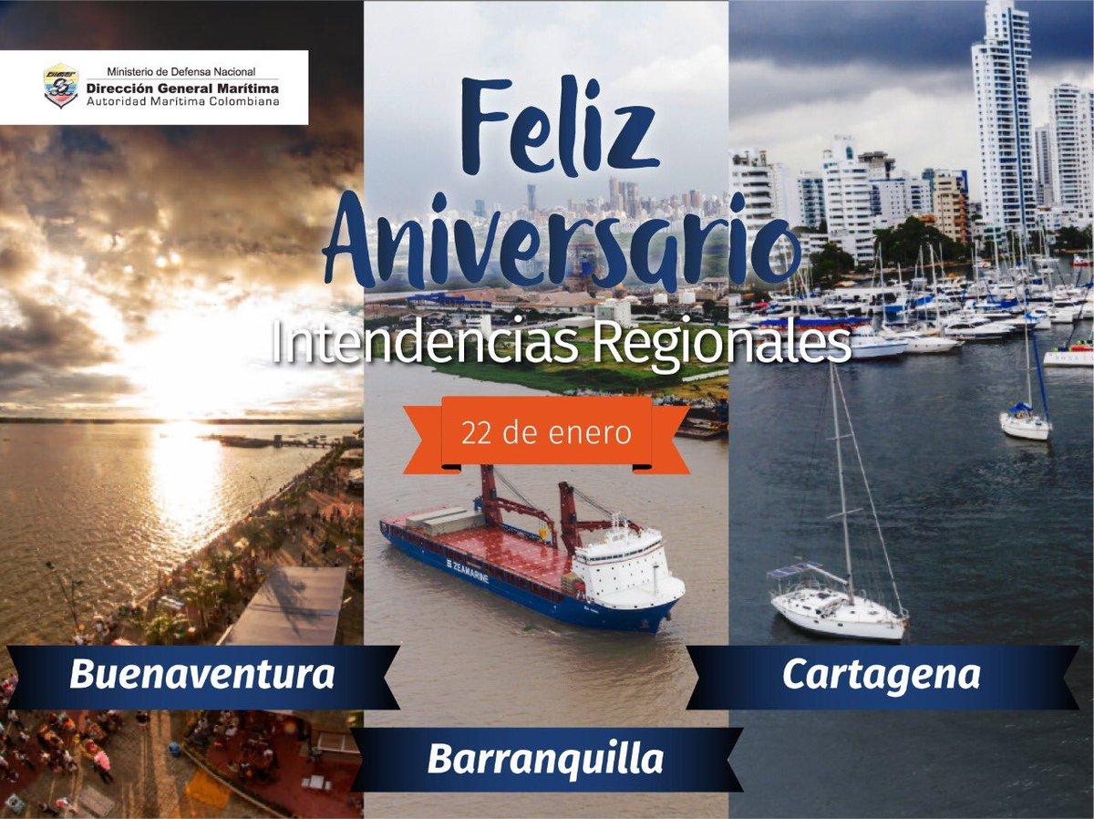 En el día de su aniversario, resaltamos la excelente labor de los hombres y mujeres 👨👩🏼🧑🏾👩🏻 pertenecientes al Grupo de Intencias y sus tres regionales ubicadas en #Buenaventura, #Barranquilla y #Cartagena.  ¡Continuamos aportando en la consolidación de nuestro país marítimo! 🇨🇴 https://t.co/5SFjvBcbjJ