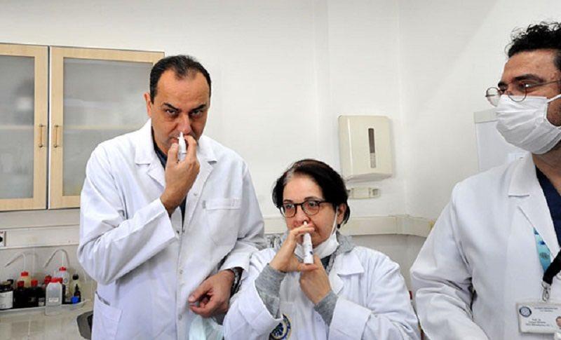 Bursa'da, koronavirüsü ağız ve burunda 1 dakikada öldüren sprey üretildi